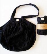 Casa Organica Síťovinová taška s drobnými oky - černá